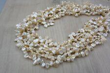 BK03 Zuchtperlen Strang Süßwasser Perlen Schmuck Kette Halskette 9-10mm barock !