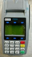 FIRST DATA FD-50 CREDIT CARD TERMINAL WITH CARD SWIPE 001304064