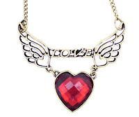 """Vintage Art Deco stile bronzo ali d'angelo con """"love"""" messaggio e"""