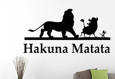 Hakuna Matata Wall Decal Lion King Vinyl Sticker Disney Art Kids Room Decor 1eyh