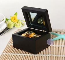 """Can't Help Falling in Love"" Wooden Music Box With Sankyo Movement (Black Color)"
