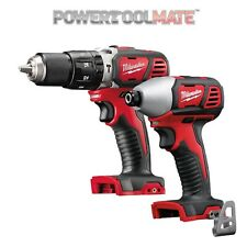 Milwaukee M18BPD 18V Combi Drill & M18BID Impact Driver Twin Pack (Bare Units)
