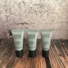 Lot of 3 Make Up For Ever STEP 1 Skin Equalizer SMOOTHING PRIMER .16 oz x3 MUFE