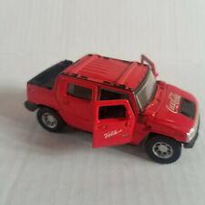 COCA COLA Red Hummer Truck H2 SUV Die Cast - 1/46 - Pull Back Action, Doors Open