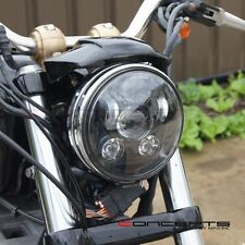 Black LED Headlight Insert - Fits Harley Dyna Low Rider EFI FXDLI : 2004–2006