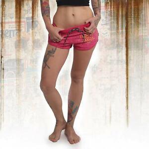 Neue Yakuza Damen Crests Sweat Shorts - Rose Red
