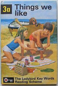Vintage Ladybird Book – 3a Things we like – Key Words – Peter & Jane – Mint