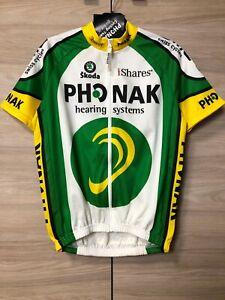 Phonak Cycling Team Vintage Jersey Shirt Maglia Trikot Men's size M