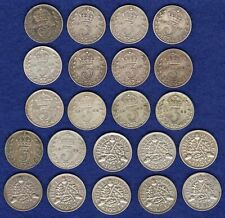 More details for gb, george v silver threepences, 3d date run, 1911-36, 22x coins (ref. t4132)