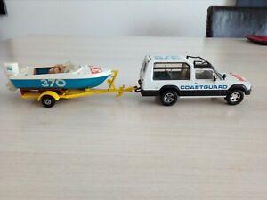 Matchbox Super kings K-104 Matra Rancho Patrol Coastguard avec Hors Bord 1985
