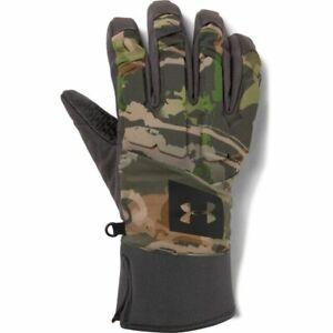 Under Armour Coldgear Gore Tex Camo UA Hunt Gloves - Men's Size Large - NEW!