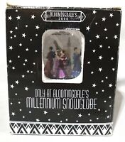 Bloomingdale's Rare New Years Millennium 2000 Musical Snow Globe Auld Lang Syne