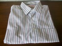 Pierre Cardin Long Sleeve Striped Collared Shirt, Size 16.5