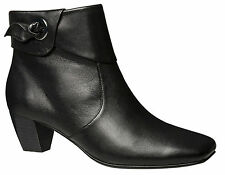 Women's Leather Block Boots