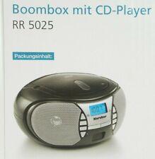 Karcher RR 5025 tragbarer CD Player - UKW Radio Boombox AUX-In schwarz