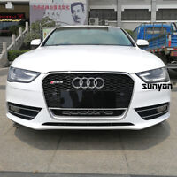 A4 Front Mesh Grill Grille for Audi A4 B8.5 & S4 12-15 To RS4 Chrome Frame