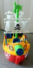Toddlers pull-along Interactive Pirate Ship Toy, music/lights/sounds Vgc