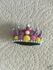 CROWN JIBBITZ CROWN SHOE CHARM FIT CROCS CROWN W/PEARL JIBBITZ TIARA JIBBITZ