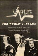 25/4/81PN39 VARDIS : THE WORLDS INSANE ALBUM ADVERT 10X7