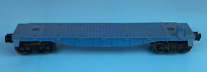 Lionel 6511-2 O Scale Unmarked Blue Flat Train Car No Load Vintage Rare