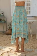 Bintage Choc Floral Boho Skirt Like spell and The Gypsy XS/S/M/L