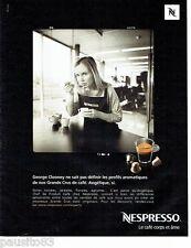PUBLICITE ADVERTISING 116  2010   le café Nespresso