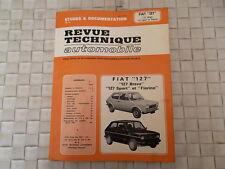 REVUE TECHNIQUE FIAT 127 BRAVA - 127 SPORT - 127 FIORINO