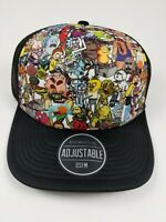 Adult Swim Rick and Morty Characters All Over Print Snapback Authentic NWT Hat