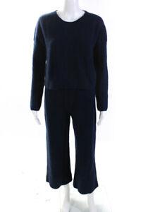 La Ligne Womens Two Piece Cashmere Knit Sweater Pants Set Blue Size S M Lot 2