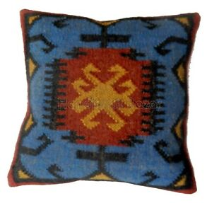 "18"" Indoor Handmade Jute Cushion Kilim Rug Pillow Throw Knotted Killi Rug Sofa"