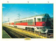 Locomotive Talgo Pendular Espagne 1941 Railway Chemin de Fer Train FICHE FRANCE
