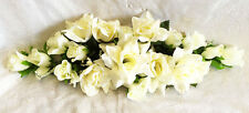 Ivory Cream Swag ~ Silk Wedding Flowers Roses Arch Chuppah Decor Centerpieces