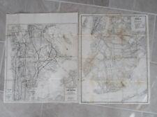 "NYC Brooklyn Bronx Vintage Street Maps B/W 18"" x 22"" by Geographia 1960's"