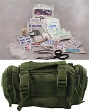 Tactical First Aid Rapid Response Bag Stocked Elite Medic MOLLE Trauma Kit ODG.