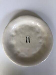 "Rae Dunn RARE 8 1/2"" *Knife, Fork, Spoon* DINE Motif Plate | Vintage Dimpled"
