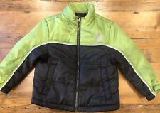 ZeroXposur Boy's Size 4 Full Zip Quilted Winter Jacket Lime Green and Black