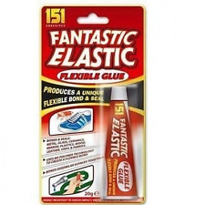 151 FANTASTIC ELASTIC FLEXIBLE GLUE for SHOE, RUBBER, FABRIC, METAL ,GLASS etc..