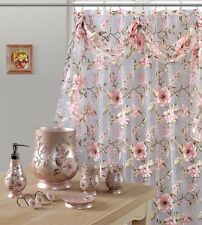 Melarosa Pink High Quality Scarf Sheer Shower Curtain Made 100 Polyester