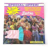 VINTAGE SNEAK PREVIEW BARBIE 1991 CALENDAR - 15 Month - Barbie Dress  NEW SEALED