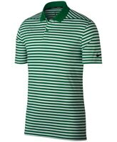 Nike Mens Shirt Green White Size Small S Golf Dri-Fit Polo Striped $55 011