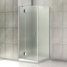 Duschkabine Duschtür Duschabtrennung Satiniert Echtglas Duschwand 80x80x190cm