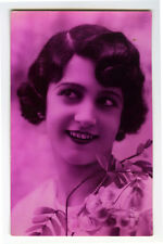1920s French Deco Glamour PRETTY YOUNG LADY glamor RPPC photo postcard