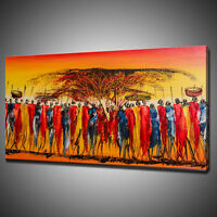 MAASAI AFRICAN CANVAS PRINT PICTURE WALL HANGING ART HOME DECOR FREE DELIVERY