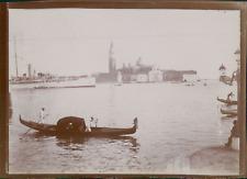 Italie, Venise, Vue de San Giorgio Maggiore, ca.1900, Vintage citrate print Vint
