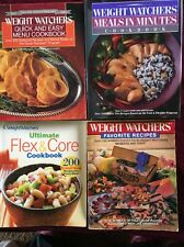 4 Weight Watchers Cookbooks Meals In Minutes Quick & Easy Menu Favorite Recipes