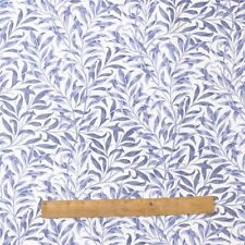 William Morris Willow Bough Blue 100% Cotton Fabric By The Half Metre