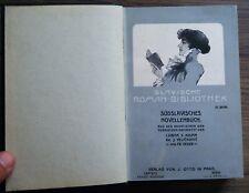 Slavische Romanbibliothek Südslavisches Novellenbuch Kroatien Serbien 1905