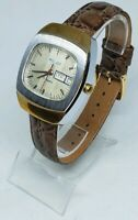 🔔🔔🔔 Vintage Wrist Watch POLJOT SOVIET USSR, RUSSIA Day Date Serviced 🔔🔔🔔