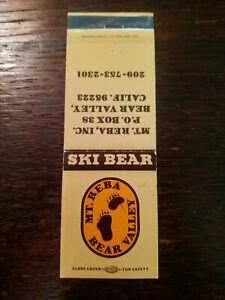 Vintage Matchcover: Ski Bear, Mt. Reba Inc., Bear Valley, CA  54
