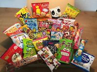 Selected Japanese Snack Set, 25pc of snacks/candies/dagashi, Waku-waku Box